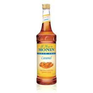 Monin SF Caramel Syrup 750ml | 1 Liter Plastic